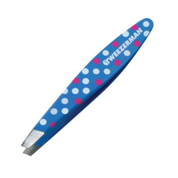 Mini-Pinca-para-Sobrancelha-de-Aco-Inoxidavel-Hot-for-Dots-azul