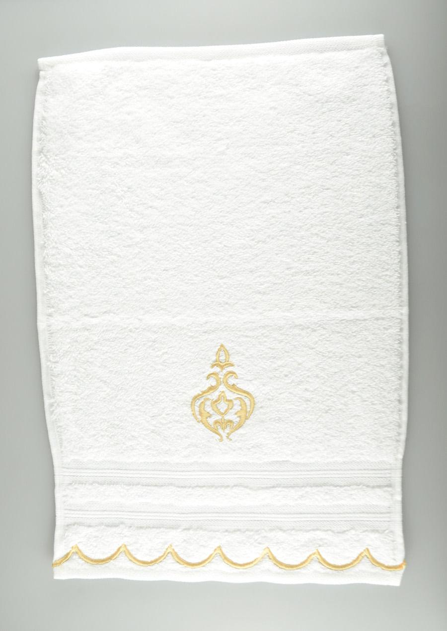 Toalha Lavabo Arabesco Frances Ouro