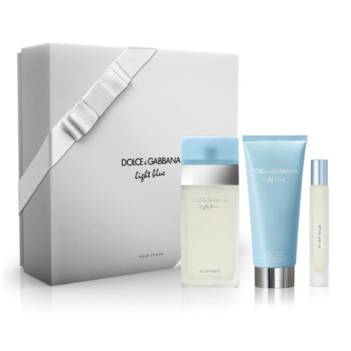 Kit Dolce   Gabbana Light Blue Eau de Toilette Feminino EDT 100 ml + Mini  EDT 7.4 ml + Body Cream 100 ml 29c69d5a30