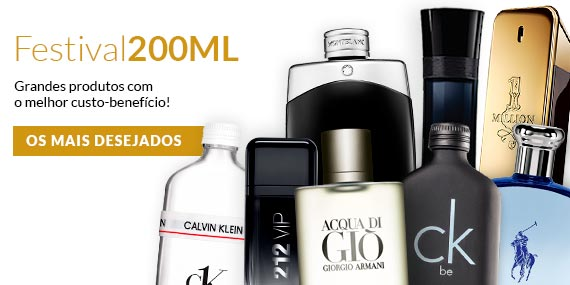 Perfumes 200ml no ShopLuxo
