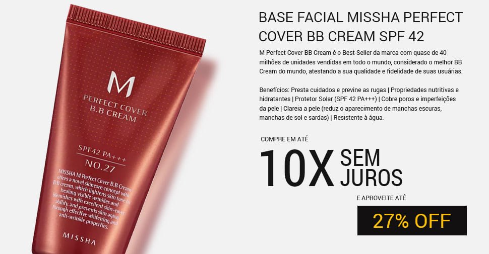 BASE FACIAL MISSHA PERFECT COVER