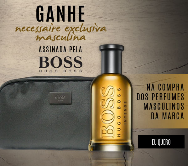 [Ganhe Necessaire Exclusiva Masculina Assinada Pela Hugo Boss]