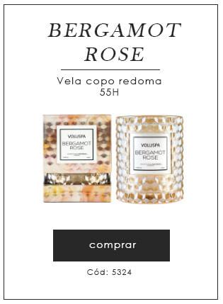 [Vela copo Bergamot Rose]
