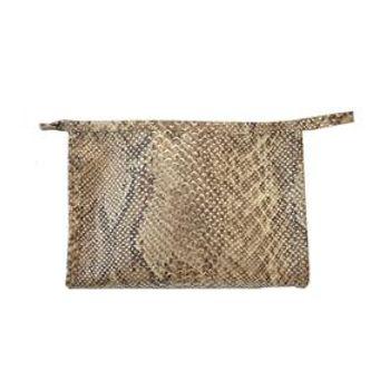 moda-feminino-pash-necessaire-pequena-cobra-marrom-prata