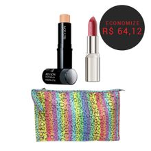 Batom-Artdeco-High-Performance-Red-Fire---Base-Revlon-Photoready-Insta-Fix-Nude---Necessaire-Pash