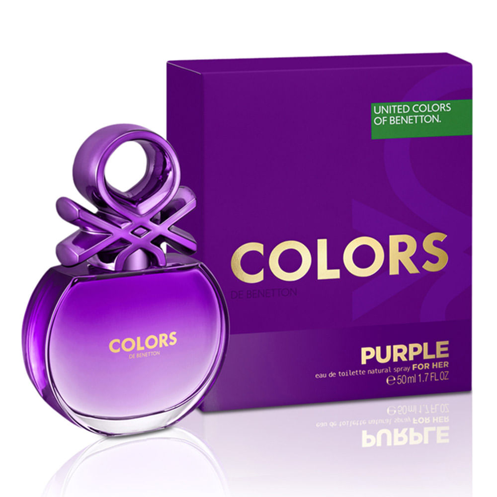 d41f91c2e57 Perfume Benetton Colors for Her Purple Feminino
