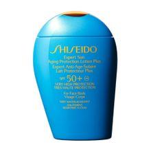 Locao-de-Protecao-Solar-Shiseido-Antienvelhecimento-Plus-FPS-50