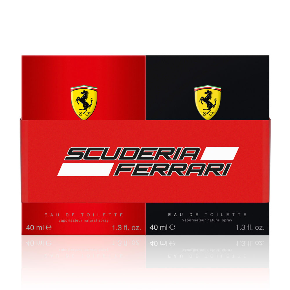 034afad59 Kit Duo Scuderia Ferrari Black + Red Eau de Toilette Masculino ...