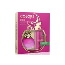 8433982012181-Kit-Benetton-Colors-Pink-Eau-de-Toilette-Feminino---EDT-80-ml---Body-Spray-24h---150-ml