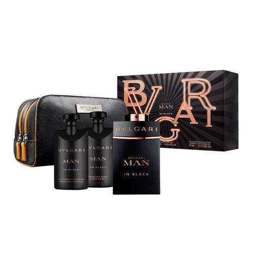 Kit-Bvlgari-Man-in-Black-Eau-de-Parfum-Masculino---EDP-100-ml---After-Shave-Balm-75-ml---Shampoo-and-Shower-Gel-75-ml---Pouch