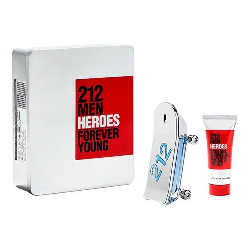 Kit-212-Men-Heroes-Eau-de-Toilette-Carolina-Herrera---EDT-90-ml---Shower-Gel-100-ml