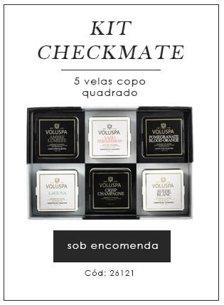[Kit Checkmate 5 velas copo quadrado - voluspa]
