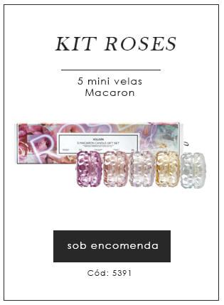 [Kit roses 5 mini velas macaron]