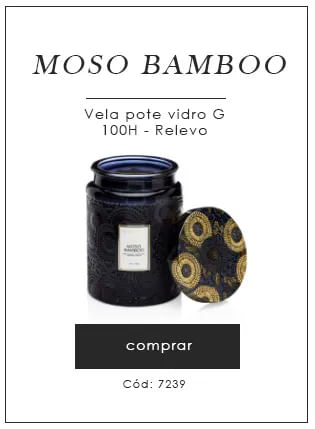 [Moso Bambbo Vela Pote Vidro - Voluspa]