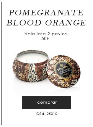 [Vela lata 2 pavios - Pomegranate Blood orange]